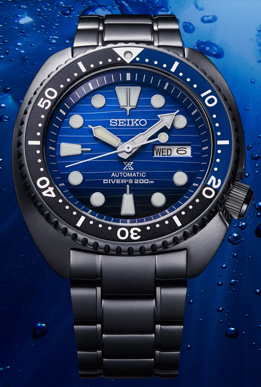 Seiko Automatik Prospex Turtle Save the Ocean Black Series SRPD11K1