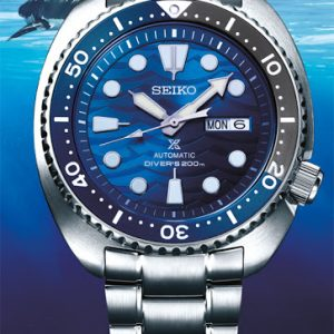"Seiko Automatik Turtle ""Save the Ocean White Shark"" SRPD21K1"